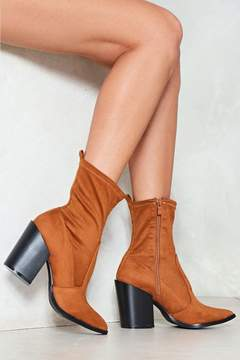 Nasty Gal nastygal Cattle Call Vegan Suede Boot