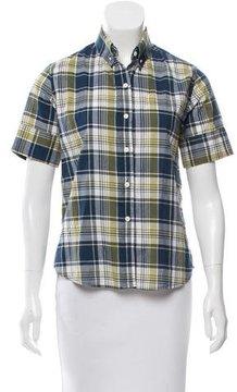 Steven Alan Plaid Short Sleeve Button-Up
