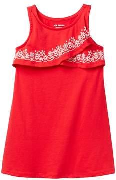 Joe Fresh Printed Ruffle Popover Tank Dress (Little Girls)