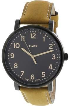 Timex Men's Originals T2N677 Black Leather Japanese Quartz Fashion Watch
