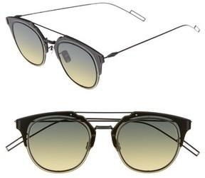 Christian Dior Men's 'Composit 1.0S' 62Mm Metal Shield Sunglasses - Black Dark Ruthenium