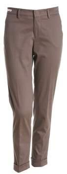 Berwich Women's Grey/brown Cotton Pants.