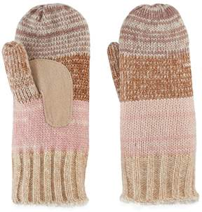 Isotoner Women's Variegated Striped Knit Mittens
