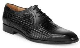 Saks Fifth Avenue Woven Captoe Dress Shoes