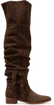 See by Chloe Studded Suede Over-the-knee Boots - Chocolate