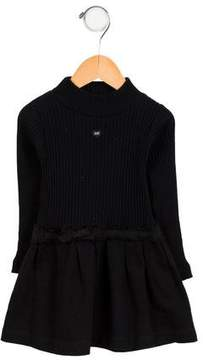 Lili Gaufrette Girls' Ribbed Long Sleeve Dress