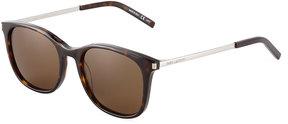 Saint Laurent Plastic/Metal Square Sunglasses