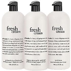 philosophy Super-Size Fresh Cream Body Trio
