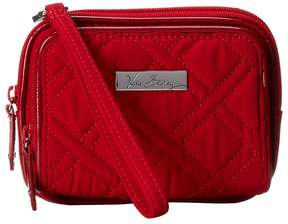 Vera Bradley On The Square Wristlet Wristlet Handbags - TANGO RED W/ RED TRIM - STYLE
