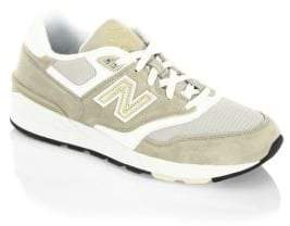 New Balance Suede and Leather Sneakers
