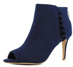 Thalia Sodi Kaarmen Women Us 6.5 Blue Peep Toe Bootie.