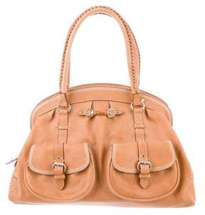 Christian Dior Leather Dome Handle Bag