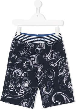 Versace Icon print shorts