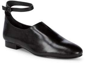 Opening Ceremony Leather Ankle-Strap Flats