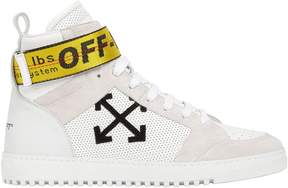 Off-White Towing Strap Suede High Top Sneakers