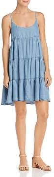 Aqua Tiered Chambray Dress - 100% Exclusive