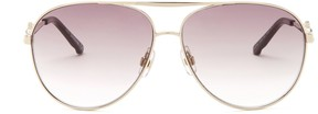 Swarovski Women's Crystal Aviator Sunglasses