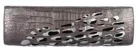 Nancy Gonzalez Anthracite Rasor Crocodile Clutch w/ Tags
