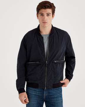 7 For All Mankind Washed Poplin Bomber in Black