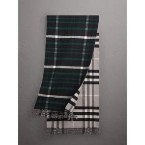 Burberry Check Wool Cashmere Oversize Scarf