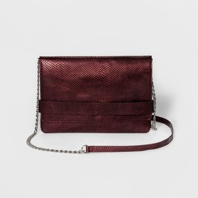 Mossimo Women's Metallic Large Clutch With Crossbody Strap