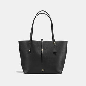 COACH Coach Market Tote - LIGHT GOLD/BLACK/TRUE RED - STYLE