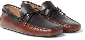 Tod's Two-Tone Leather Driving Shoes