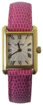 Concord 18K Yellow Gold / Leather Vintage 18.6mm Mens Watch