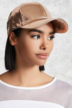 Forever 21 Faux Leather Baseball Cap