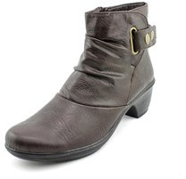 Easy Street Shoes Wynne Women Round Toe Synthetic Brown Ankle Boot.