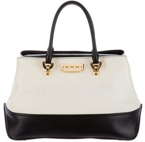 ZAC Zac Posen Bicolor Eartha Satchel