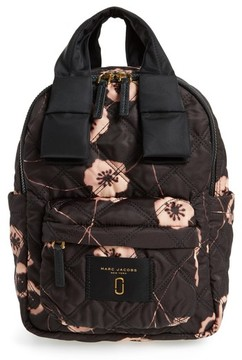 Marc Jacobs Small Violet Vines Knot Backpack - Black - BLACK - STYLE