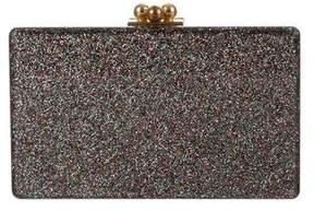Edie Parker Jean Glitter Box Clutch