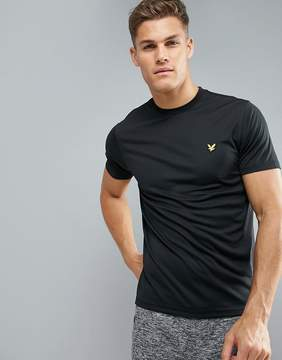 Lyle & Scott Fitness Peters T-Shirt with Mesh Panels in Black