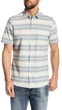 Jeremiah Gibson Textured Chambray Stripe Shirt