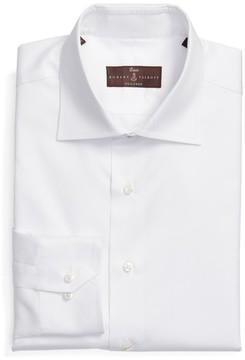 Robert Talbott Men's Tailored Fit Solid Dress Shirt