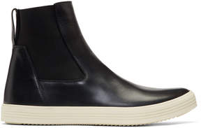 Rick Owens Black and Off-White Mastodon High-Top Sneakers