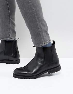Zign Shoes Chunky Leather Chelsea Boots