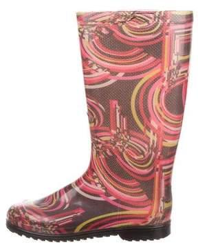 Emilio Pucci Mid-Calf Rain Boots