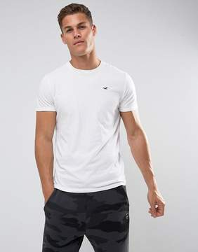 Hollister Crew T-Shirt Slim Fit Icon Logo in White