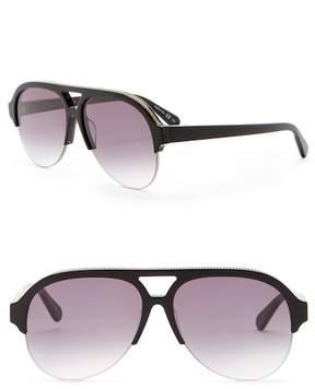 Stella McCartney Women's 57mm Chain Aviator Sunglasses