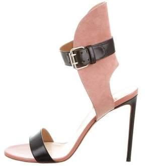 Francesco Russo Bicolor Ankle-Strap Sandals