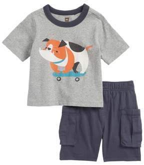 Tea Collection Skating Bulldog Top & Shorts Set