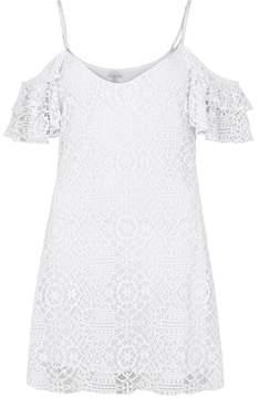 Pilyq White Open-shoulder Lace Dress