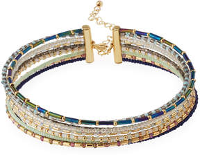 Fragments for Neiman Marcus Nine-Row Seed Bead Choker Necklace, Multi