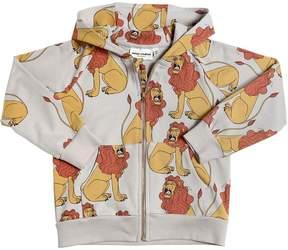 Mini Rodini Lion Hooded Organic Cotton Sweatshirt