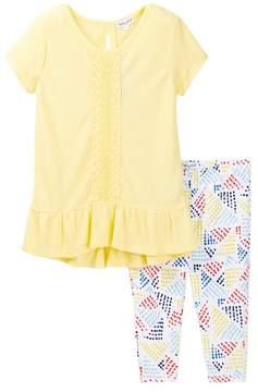 Splendid Flounce Top with Printed Legging (Little Girls)