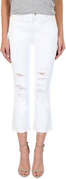 Black Orchid Mia Distressed Crop-Flare Jeans