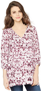 A Pea in the Pod Maternity Printed V-Neck Blouse