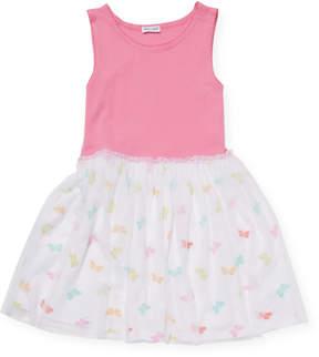 Splendid Seasonal Basics Butterfly Print Tulle Dress